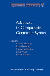 Advances in Comparative Germanic Syntax