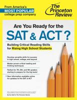 Are You Ready for the SAT   ACT  PDF