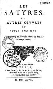 Les Satyres et autres oeuvres du sieur Régnier