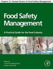 Food Safety Management: Chapter 37. Human Factors in Food Safety Management