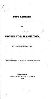 Five Letters to Governor Hamilton