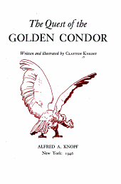 The Quest of the Golden Condor PDF