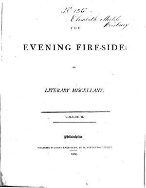 The Evening Fire side  Or Literary Miscellany