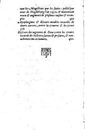 Mémoires de l'estat de France sous Charles Neufiesme contenans les choses plus notables, faites & publiées tant par les catholiques que par ceux de la religion, depuis le troisiesme edit de pacification fait au mois d'aoust 1570 jusques au regne de Henry