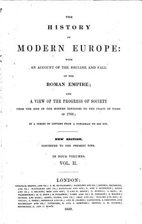 The History of Modern Europe     A new edition     revised  etc PDF