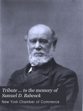 Tribute ... to the Memory of Samuel D. Babcock: October 2, 1902