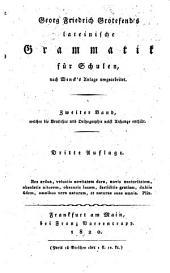 Lateinische grammatik für schulen, nach Wenck's anlage umgearbeitet: Band 2