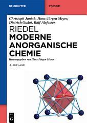 Riedel Moderne Anorganische Chemie: Ausgabe 4