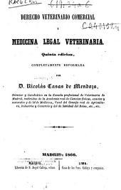 Derecho veterinario comercial y medicina legal veterinaria