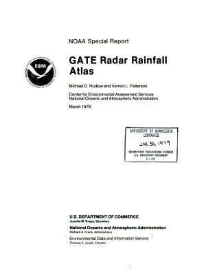 GATE Radar Rainfall Atlas