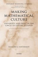 Making Mathematical Culture PDF