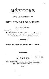Mémoire sur la fabrication des armes portatives de guerre