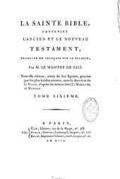 La Sainte Bible, contenant l'Ancien et le Nouveau Testament ornée de 300 fig.d'apès Marillier