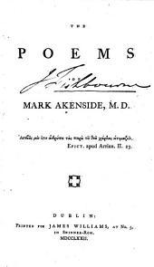 The Poems: Of Mark Akenside, M.D.