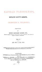 Matthæi Parisiensis, Monachi Sancti Albani, Chronica Majora: Issue 57, Volume 5