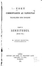 Voet, Commentarius Ad Pandectas: Volume 2