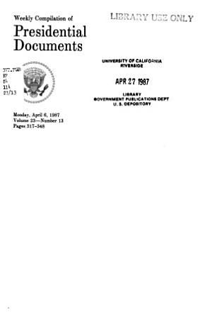 Weekly Compilation of Presidential Documents PDF