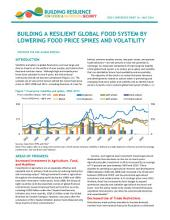 Building a resilient global food system by lowering food price spikes and volatility