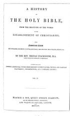 A History of the Holy Bible