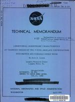 Longitudinal Aerodynamic Characteristics at Transonic Speeds of Two V/STOL Airplane Configurations with Skewed and Variable-sweep Wings