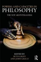 Powers and Capacities in Philosophy PDF