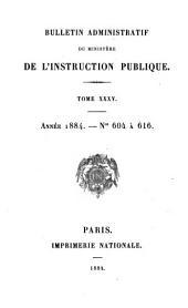Bulletin administratif: Volume35