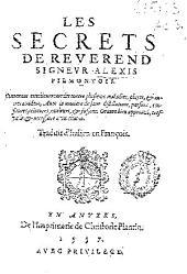 Les secrets de reuerend signeur Alexis Piemontois ...