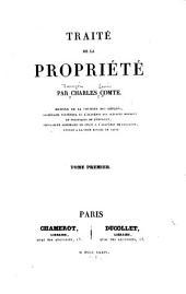 Traité de la propriété, 1