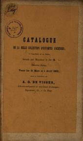 Veilingcatalogus, boeken van Dr B..., 31 maart tot 1 april 1863
