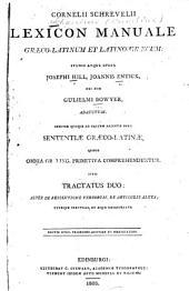 Lexicon manuale: Graeco-Latinum et Latino-Graecum