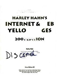 Harley Hahn s Internet   Web Yellow Pages PDF