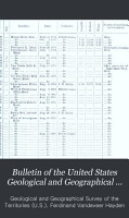 Bulletin of the United States Geological and Geographical Survey of the Territories PDF