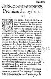 Premiere Sauoysienne [par Antoine Arnauld ?]