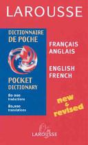 Larousse dictionnaire de poche  fran  ais anglais  anglais fran  ais