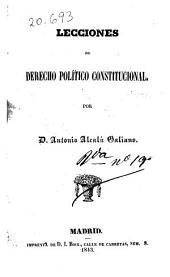 Lecciones de derecho político constitucional