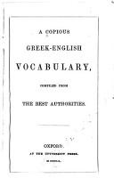 A Copious Greek English Vocabulary PDF