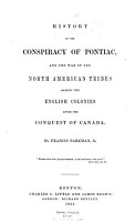 History of the Conspiracy of Pontiac PDF