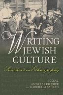 Writing Jewish Culture