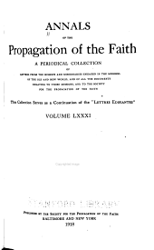 Annals of the Propagation of the Faith: Volumes 81-83