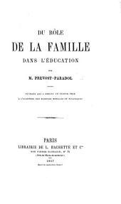 Du rôle de la famille dans l'éducation