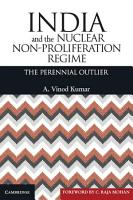 India and the Nuclear Non Proliferation Regime PDF