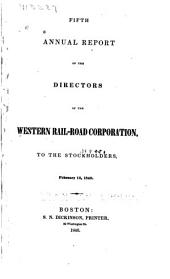 Annual Report of the Directors of the Western Railroad Corporation to the Stockholders ...
