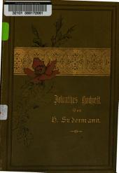 Jolanthes Hochzeit: Erzählung