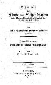 Geschichte der Poesie und Beredsamkeit seit dem Ende des dreizehnten Jahrhunderts: Introduction (40 p.) Italy