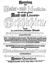 Sammlung von Natur- und Medicin- wie auch hierzu gehörigen Kunst- und Literatur-Geschichten so sich von 1717-26 in Schlesien und anderen Orten begeben ... und als Versuch ans Licht gestellet: Band 37