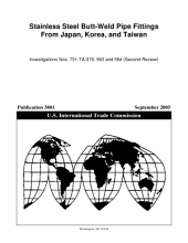 Stainless Steel Butt Weld Pipe Fittings from Japan  Korea  and Taiwan  Invs  731 TA 376  563 and 564  Second Review  PDF