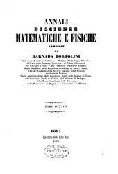 Annali di scienze matematiche e fisiche: Volume 8
