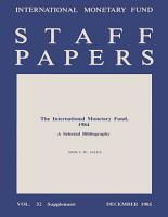IMF Staff Papers Supplement PDF