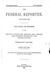 The Federal Reporter: Volume 49