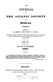 Journal of the Asiatic Society of Bengal: Volume 4